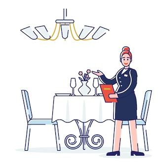 Proces pracy restauracji, koncepcja usług profesjonalnych.