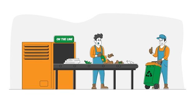 Proces technologiczny recyklingu odpadów