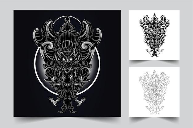 Proces tworzenia logo ilustracyjnego garuda