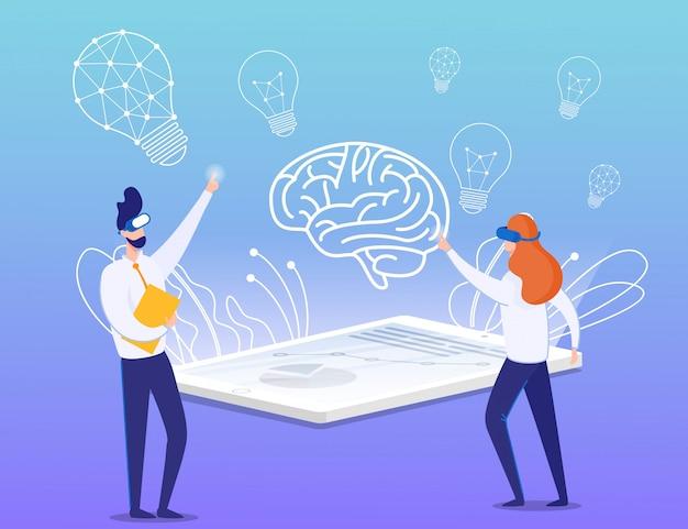 Proces tworzenia wirtualnej rzeczywistości i budowania pomysłów