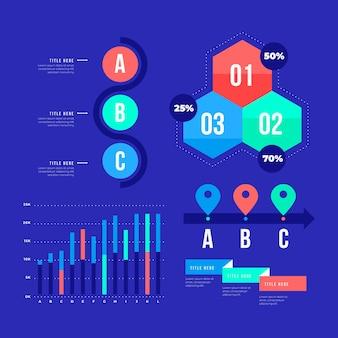 Proces zbierania elementów infografiki