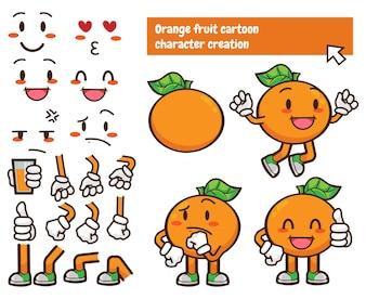 Producent niestandardowych znaków owocowych w kolorze pomarańczowym
