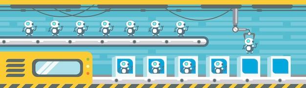 Produkcja robotów przenośnik automat montażowy przemysł automatyka przemysłowa