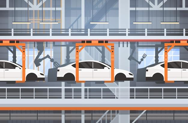 Produkcja samochodów przenośnik automatyczna linia montażowa koncepcja przemysłowej automatyki przemysłowej