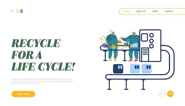 Produkcja śmieci, strona docelowa witryny eco protection.