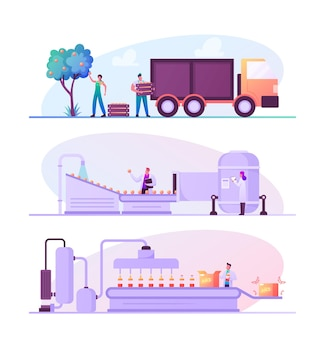 Produkcja w fabryce soków owocowych