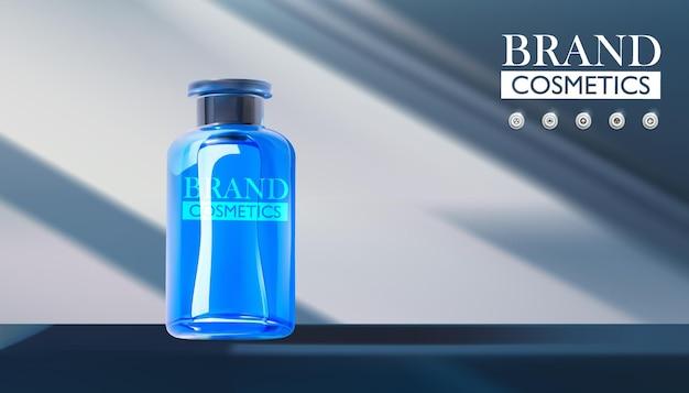Produkt kosmetyczny na tle czystych ścian z twardymi cieniami pojęcie piękna