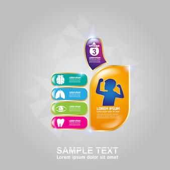 Produkt z logo witamin i składników odżywczych omega dla dzieci.