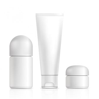 Produkty kosmetyczne. ilustracja na białym tle. graficzna koncepcja twojego projektu