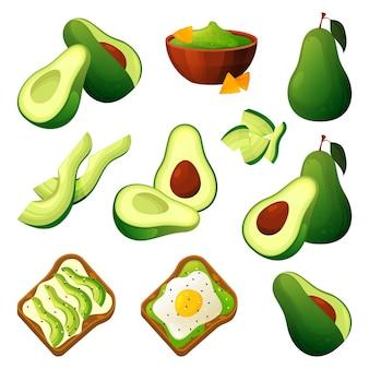Produkty spożywcze z awokado do jedzenia i gotowania