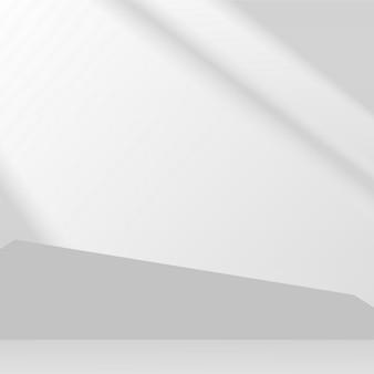 Produkty w kolorze szarym wyświetlają 3d podium w tle. ilustracja wektorowa.