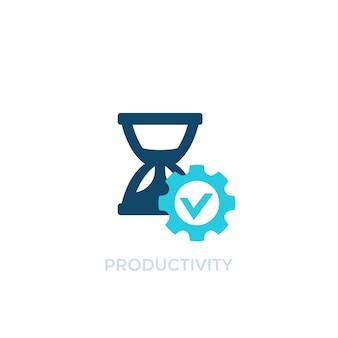 Produktywność, ikona wektor zarządzania czasem