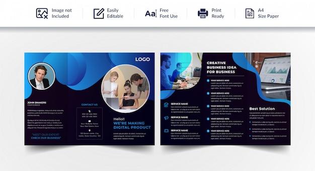 Profesjonalna broszura biznesowa składana na trzy części