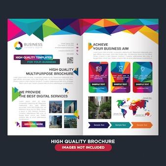 Profesjonalna broszura dla biznesu wielozadaniowego