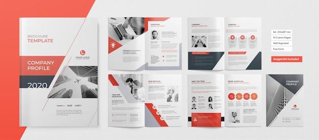 Profesjonalna broszura lub prezentacja biznesowa