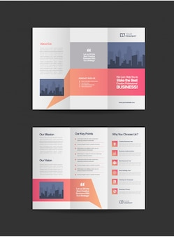 Profesjonalna broszura składająca się z trzech części