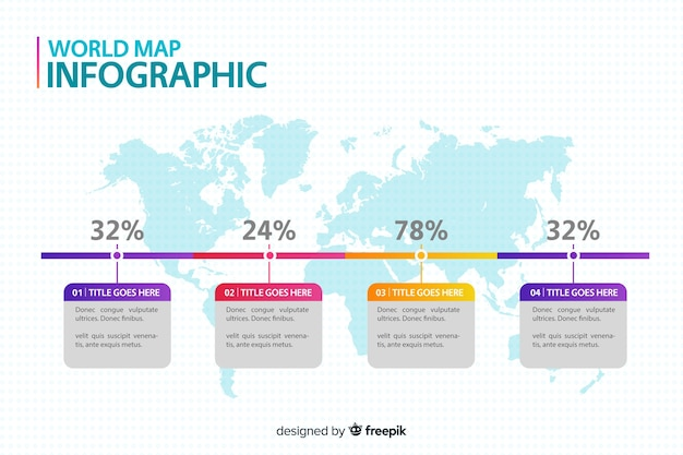 Profesjonalna infographic mapa świata