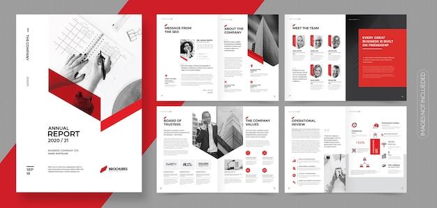 Profesjonalna korporacyjna broszura biznesowa lub szablon broszury