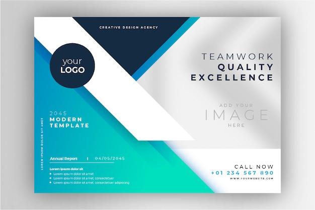 Profesjonalna niebieska broszura biznesowa