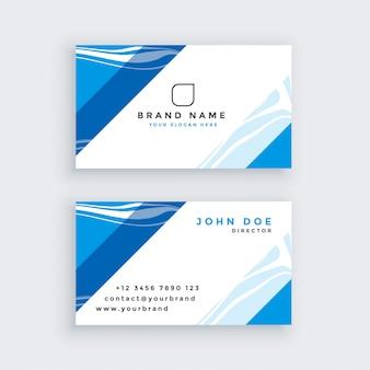 Profesjonalna niebieska nowoczesna wizytówka