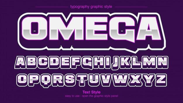 Profesjonalna sportowa typografia chrome