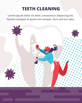 Profesjonalna usługa czyszczenia zębów.