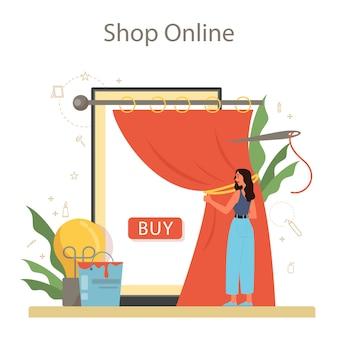 Profesjonalna usługa lub platforma online dla dekoratorów. projektant