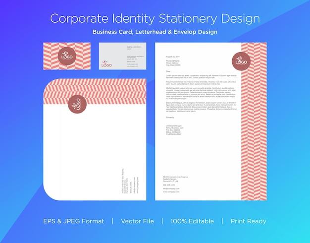Profesjonalna wizytówka, papier firmowy i szablon projektu koperty