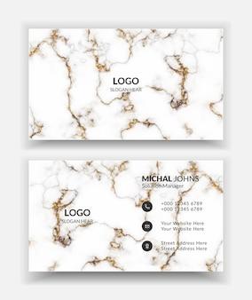 Profesjonalna wizytówka z białą i złotą teksturą linii obrysu