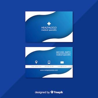 Profesjonalna wizytówka z medycznym wzorem