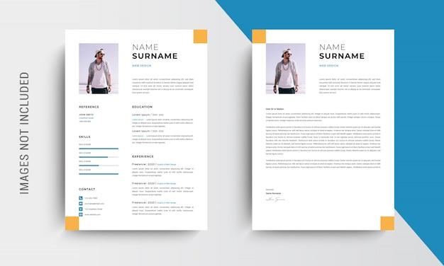 Profesjonalne cv wznowić projekt szablonu i papier firmowy