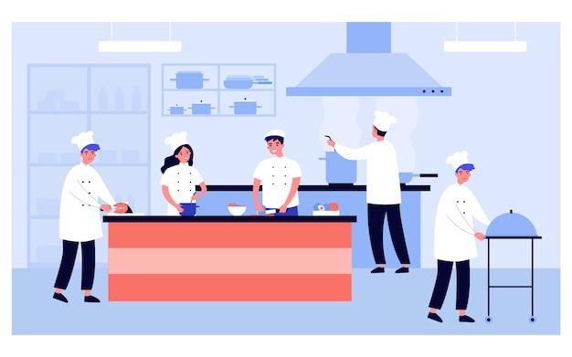 Profesjonalne gotowanie wnętrza kuchni