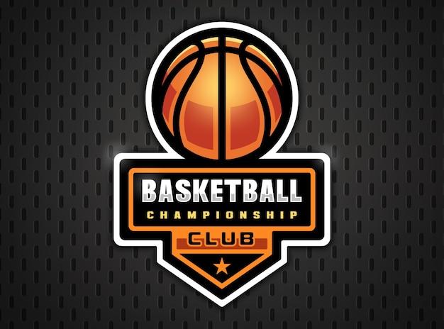 Profesjonalne logo koszykówki w płaskich grach sportowych