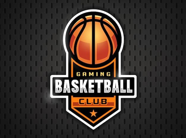 Profesjonalne logo koszykówki w stylu płaskiej. gry sportowe.