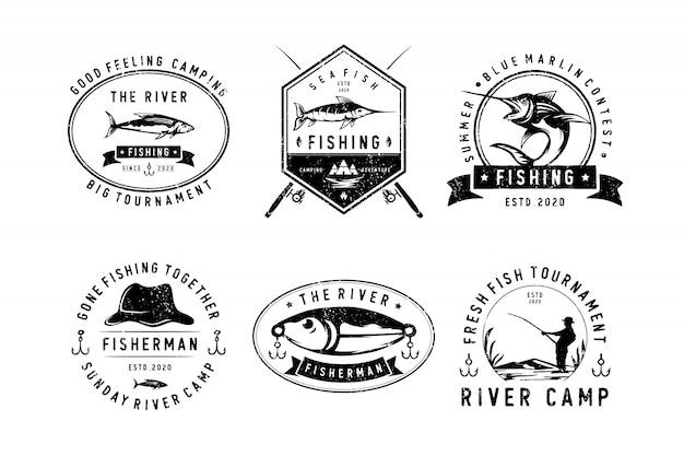 Profesjonalne odznaki wędkarskie sportowe