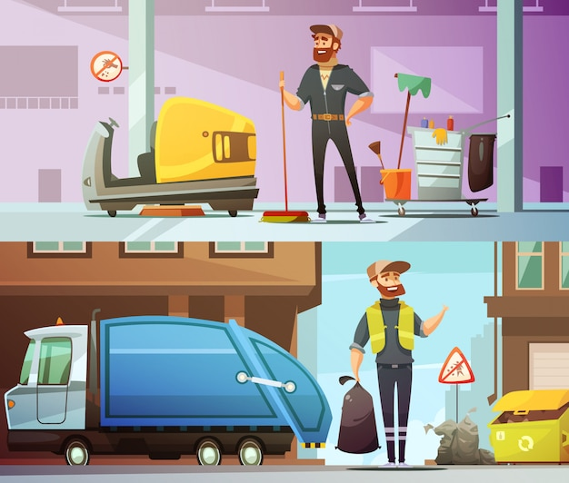 Profesjonalne usługi sprzątania i zbierania śmieci w miejscu pracy