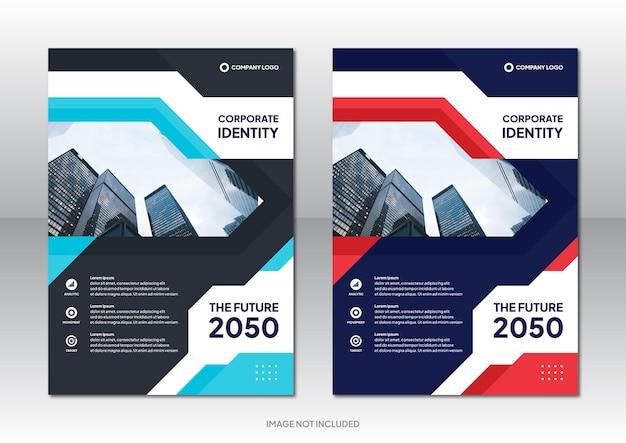 Profesjonalny biznes korporacyjny szablon projektu broszury