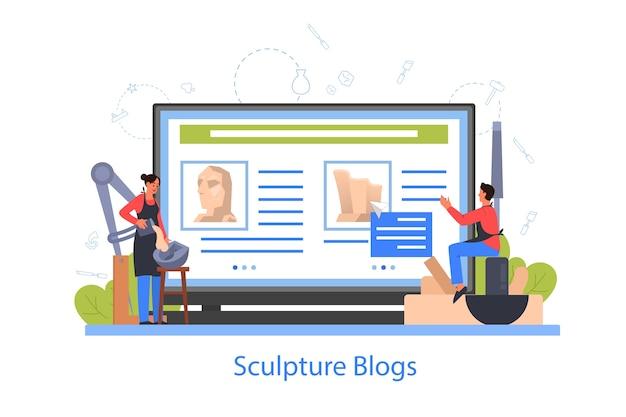 Profesjonalny blog internetowy dla rzeźbiarzy
