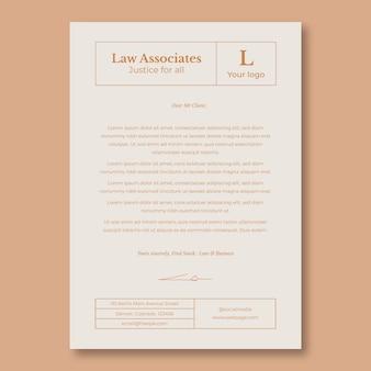 Profesjonalny elegancki prawnik list motywacyjny