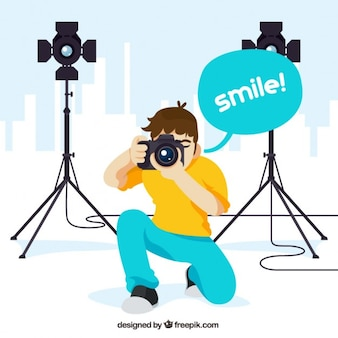 Profesjonalny fotograf ilustracja