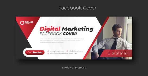 Profesjonalny i kreatywny szablon banera agencji marketingu cyfrowego