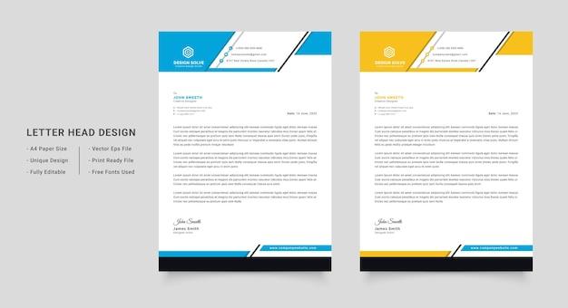 Profesjonalny i nowoczesny szablon firmowego papieru firmowego