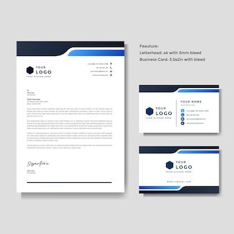 Profesjonalny kreatywny szablon papier firmowy i wizytówki