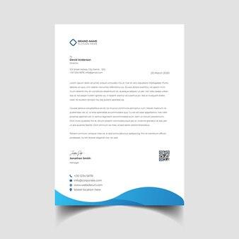 Profesjonalny kreatywny szablon papieru firmowego
