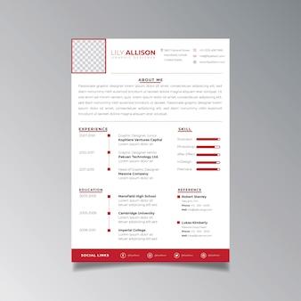Profesjonalny minimalistyczny szablon projektu cv. biznes układ wektor dla szablonu aplikacji pracy.