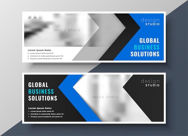 Profesjonalny niebieski biznes transparent