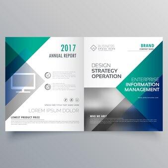Profesjonalny niebieski duplikat broszura szablon wektora projektowania