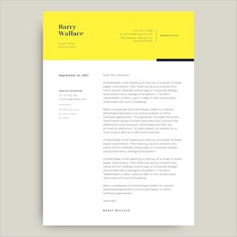 Profesjonalny nowoczesny list sprzedażowy żółty barry