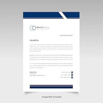 Profesjonalny projekt szablonu kreatywnego papieru firmowego dla twojej firmy