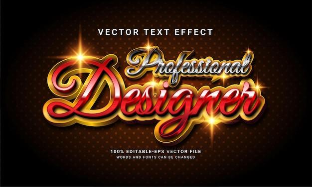 Profesjonalny projektant 3d edytowalny efekt stylu tekstu